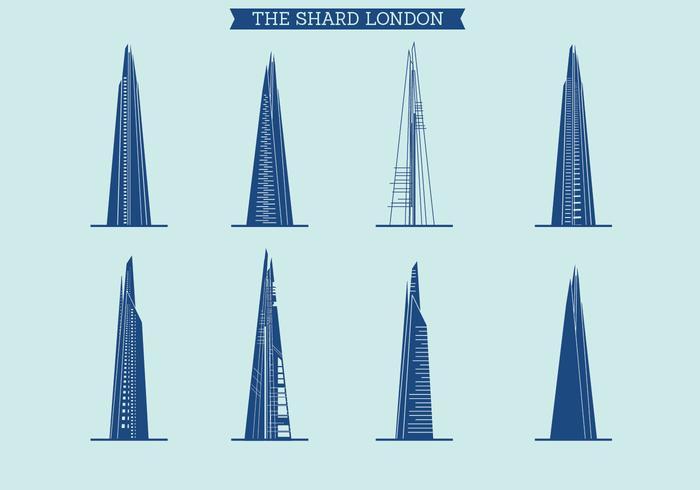Le jeu de vecteur Shard of London