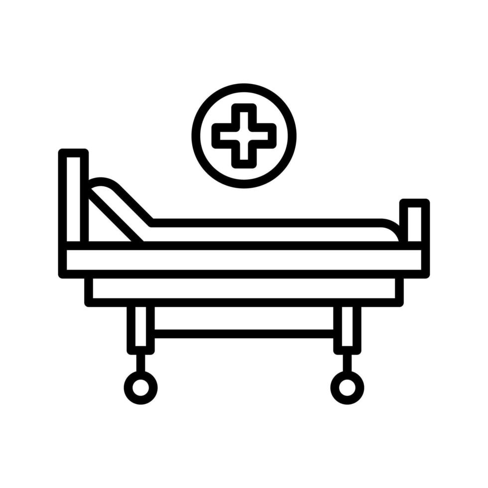 icône de lit de civière vecteur