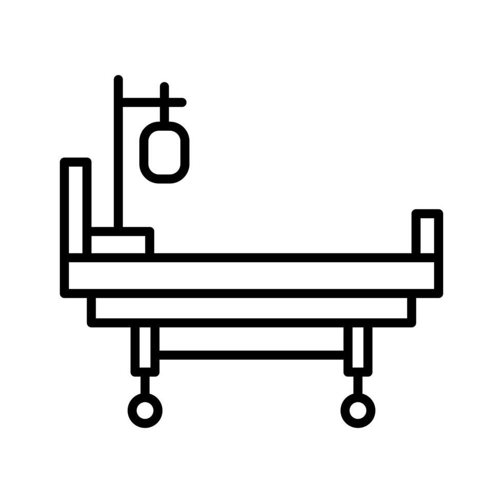 icône de lit médical vecteur