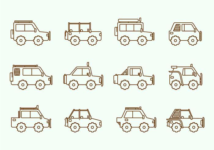 Offroad Suv Car vecteur