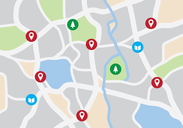 Carte graphique de la ville vecteur