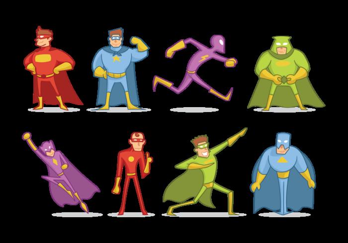 Super Heros Cartoon Vector