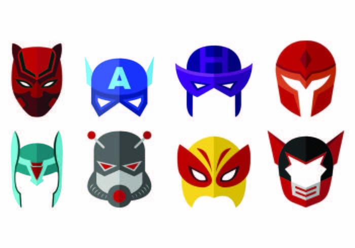 Vector Of Super Hero Masks