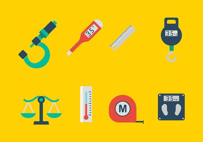 Vecteur des icônes des outils de mesure