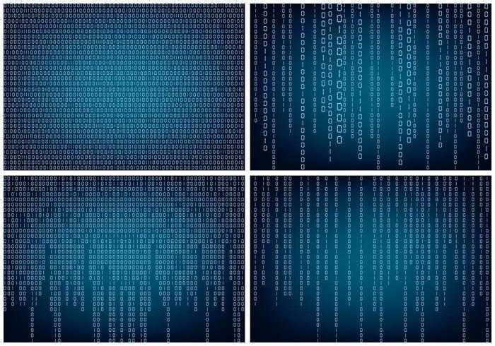 Matrice Style Binary Background vecteur