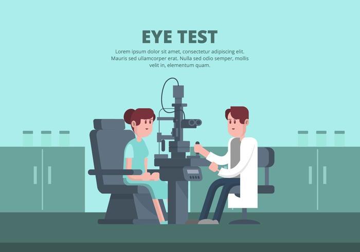 Illustration de test d'oeil vecteur