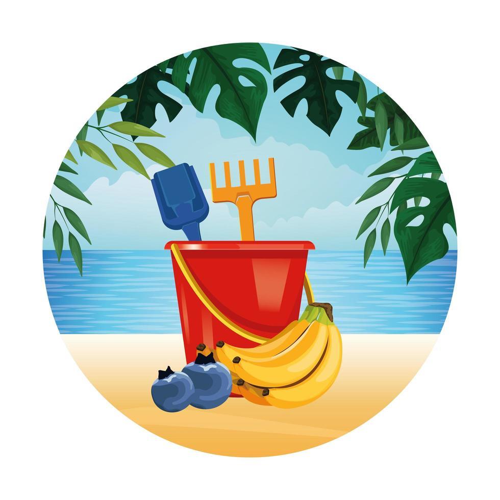 composition d'été, de plage et de vacances vecteur