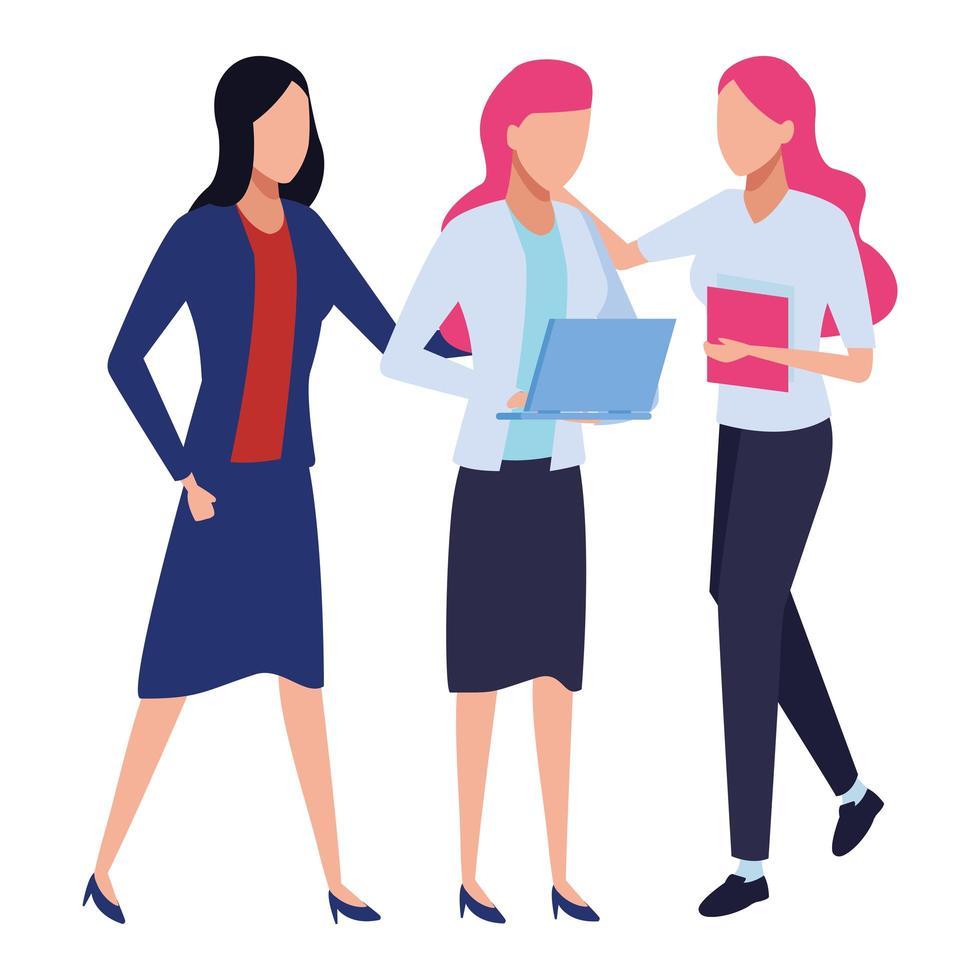 femmes d & # 39; affaires et concept de co-working vecteur