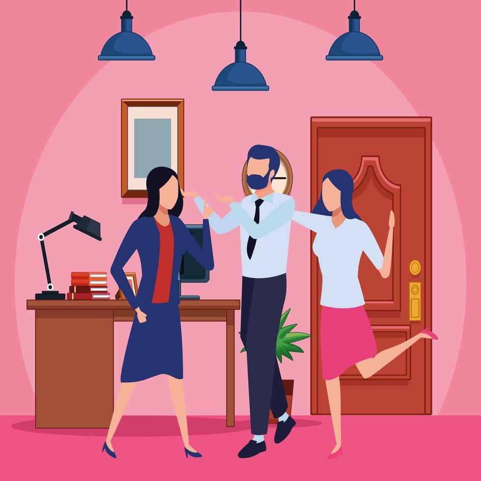 hommes d & # 39; affaires et concept de co-working vecteur