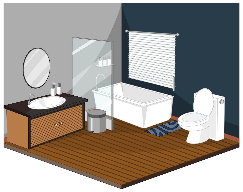 intérieur de la salle de bain avec des meubles vecteur
