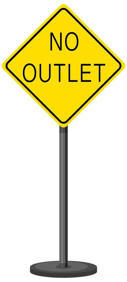 panneau d'avertissement de trafic jaune sur fond blanc vecteur