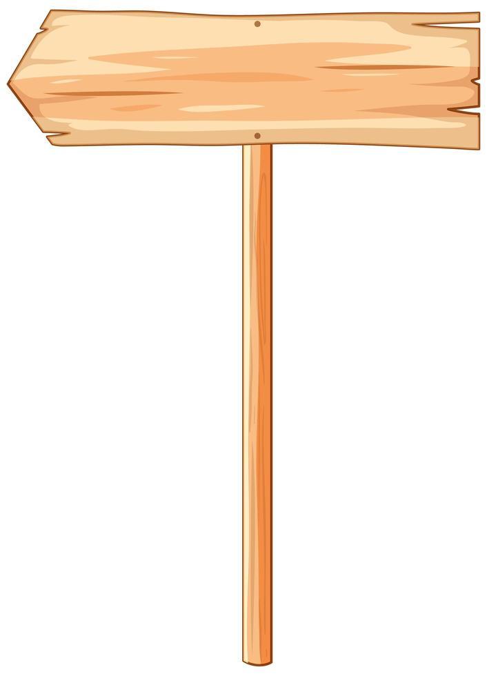 panneau de signalisation de bannière en bois isolé vecteur