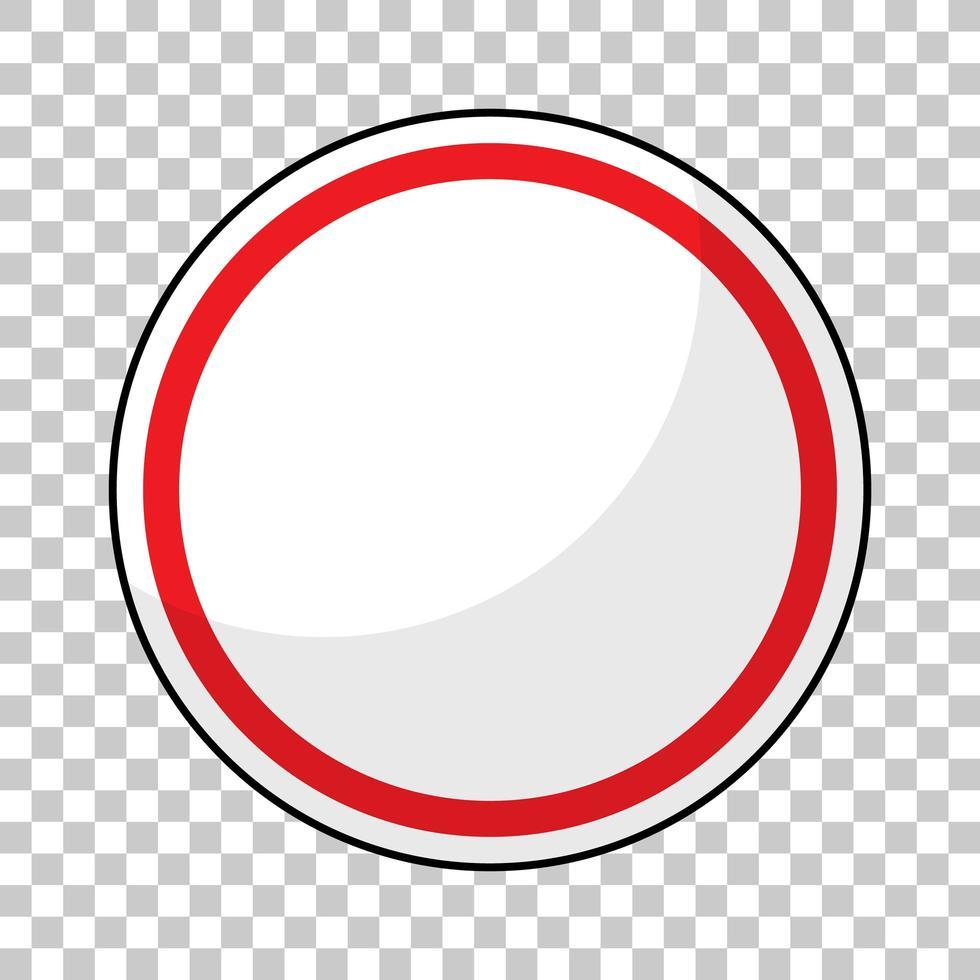 bannière de trafic rouge vide sur fond transparent vecteur