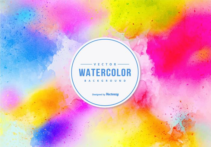 Fond coloré d'aquarelle vecteur