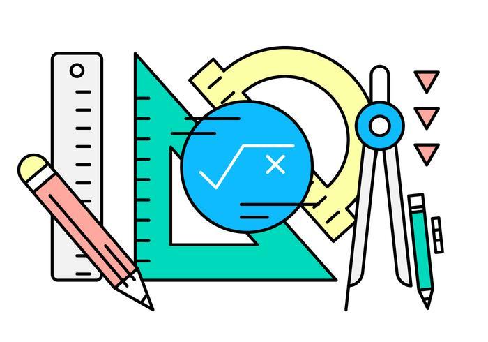 Instruments d'ingénierie linéaire gratuits vecteur