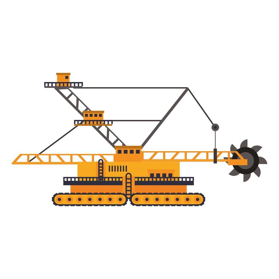 icône plate de véhicule et de machines de construction vecteur