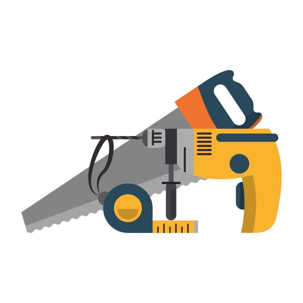 icône outils et matériel vecteur