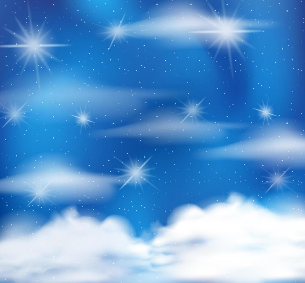 Conte de fées magique fond de ciel bleu pastel vecteur