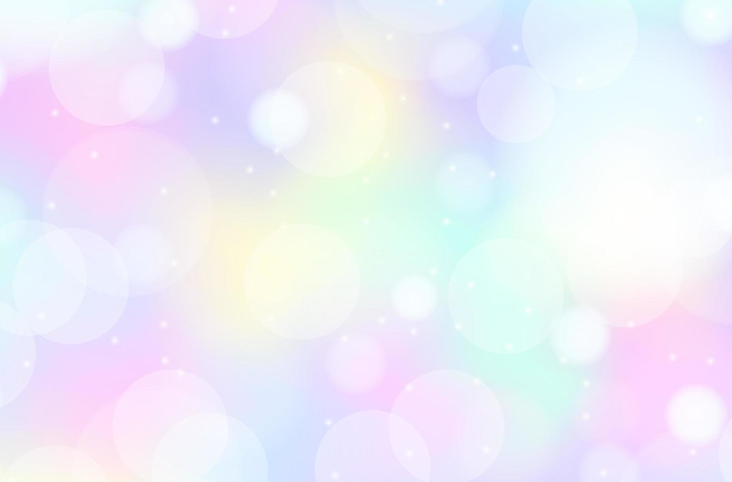 fond flou pastel arc en ciel vecteur