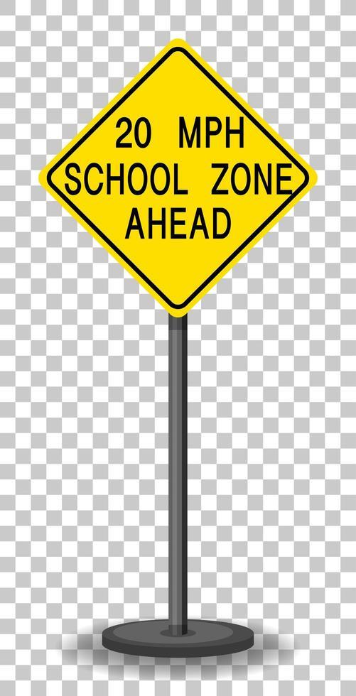 panneau d'avertissement de vitesse de circulation jaune vecteur