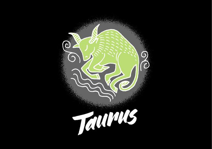 Taurus vecteur symbole zodiaque