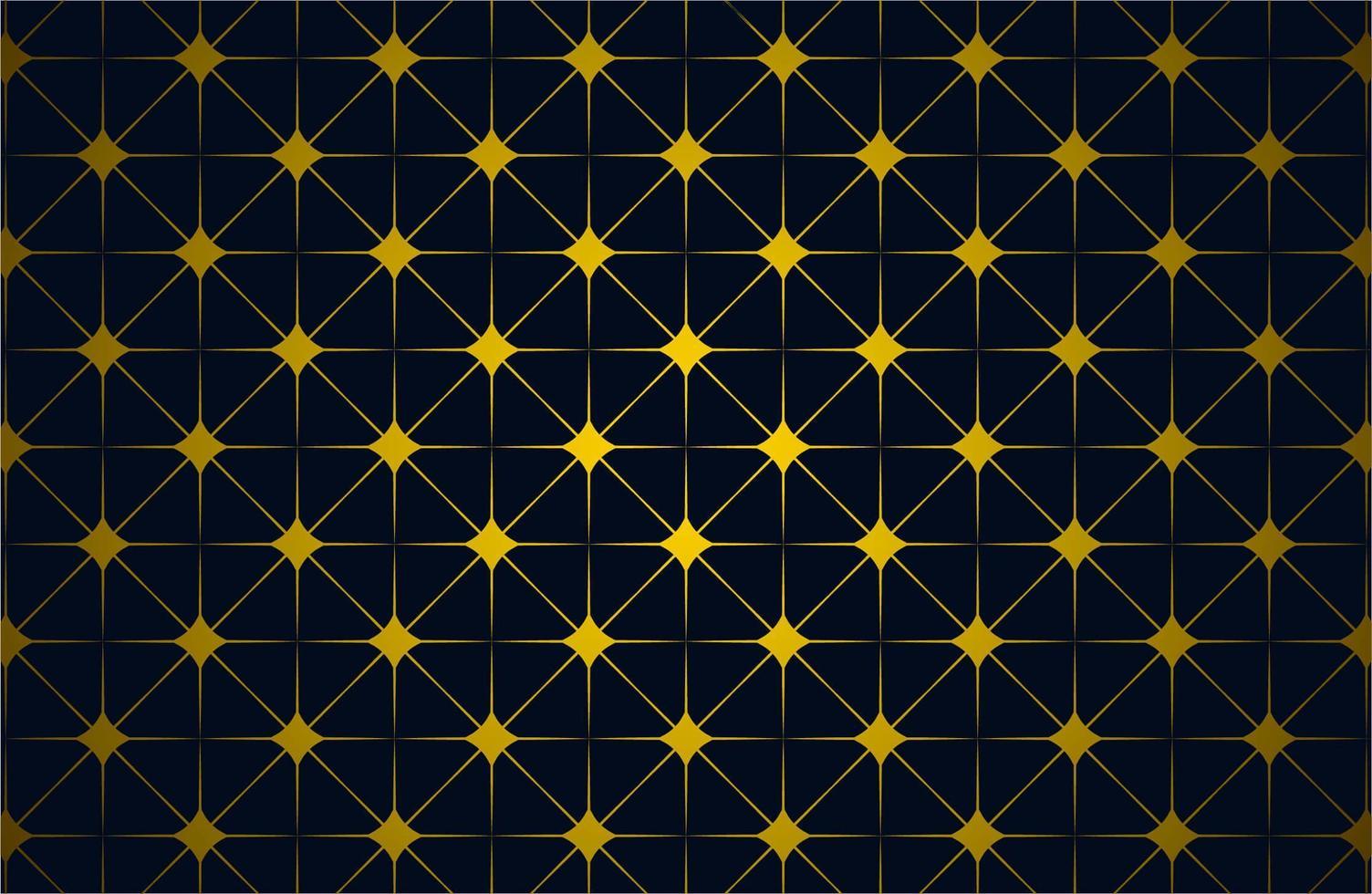motif d'étoile islamique de couleur or vecteur