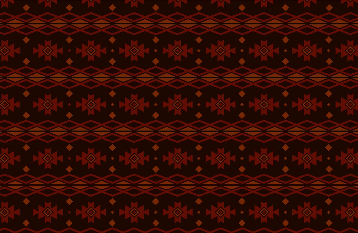 motif tribal ou ethnique rouge et noir vecteur