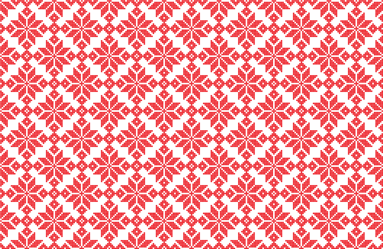 motif de pixel de flocon de neige de noël vecteur