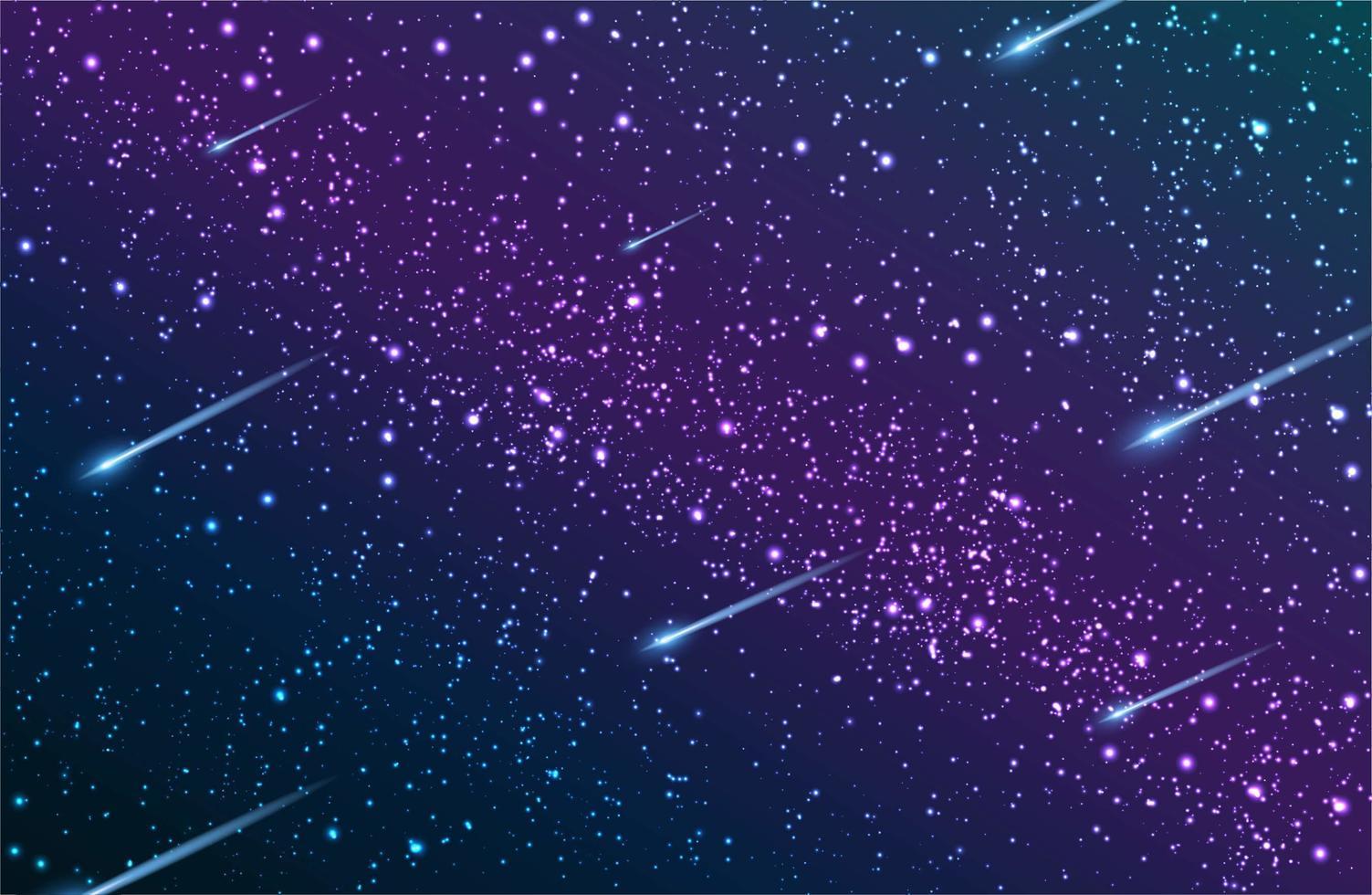 ciel nocturne galaxie voie lactée vecteur