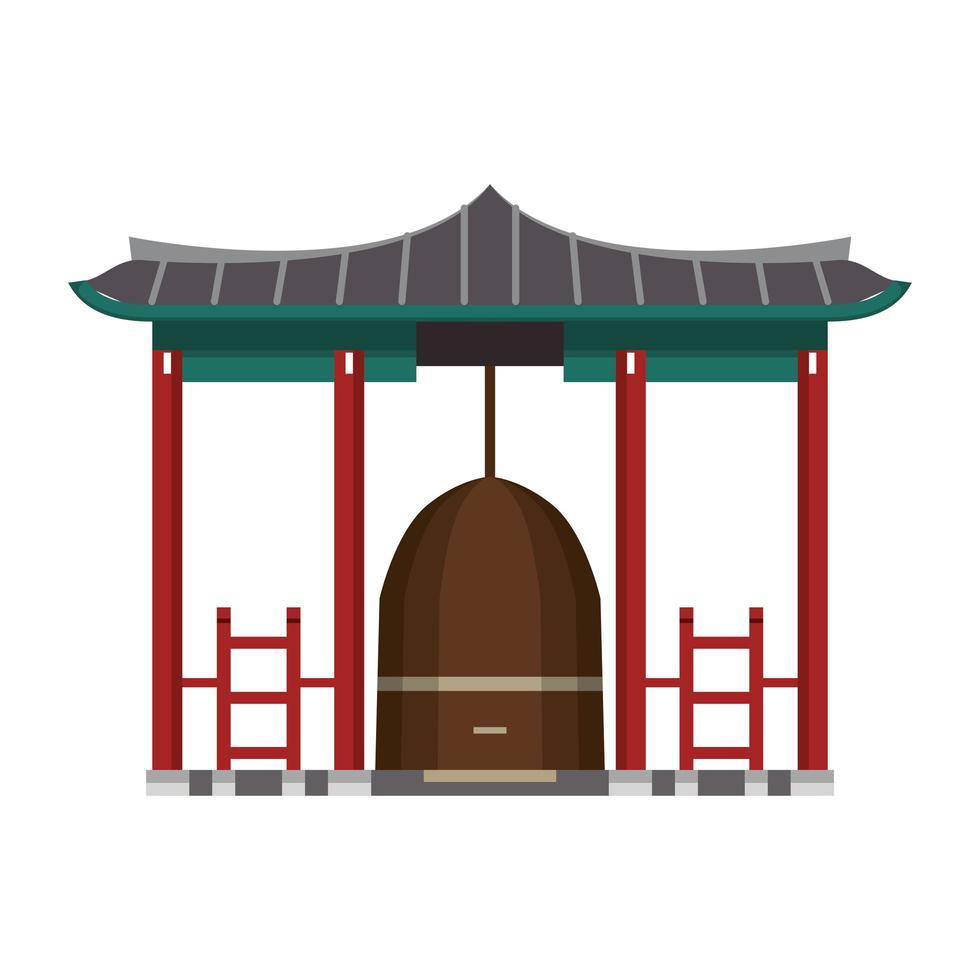 icône isolé de dessin animé de porte asiatique vecteur
