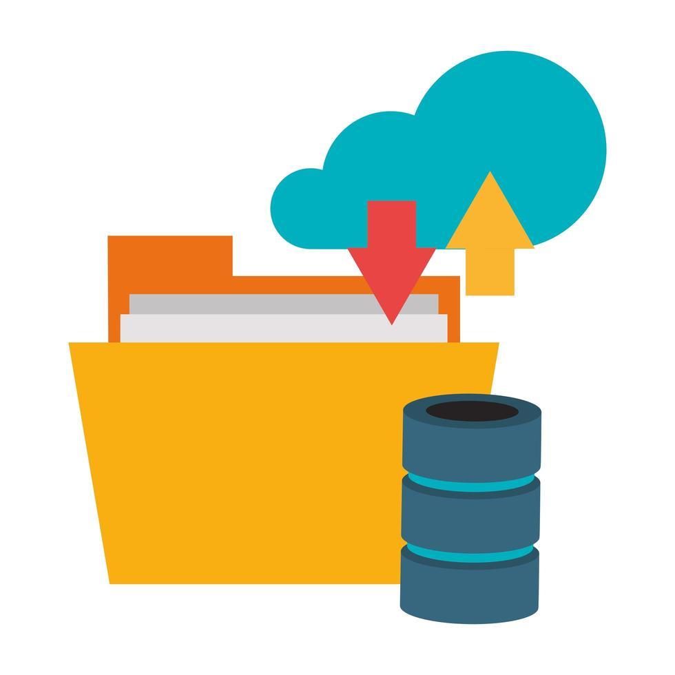 cloud computing et technologie vecteur
