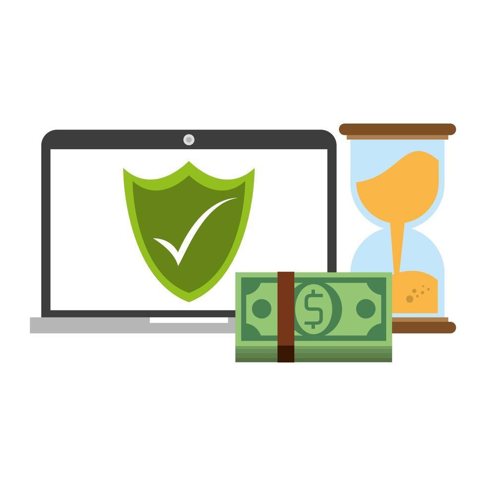 transfert d'argent en ligne et banque en ligne vecteur