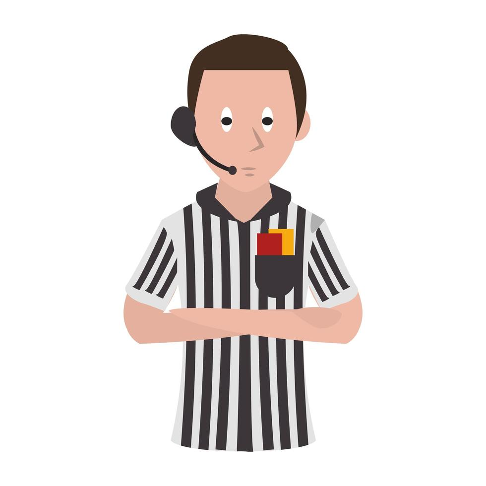 arbitre de football de dessin animé vecteur