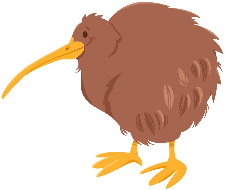 personnage animal de dessin animé oiseau kiwi vecteur