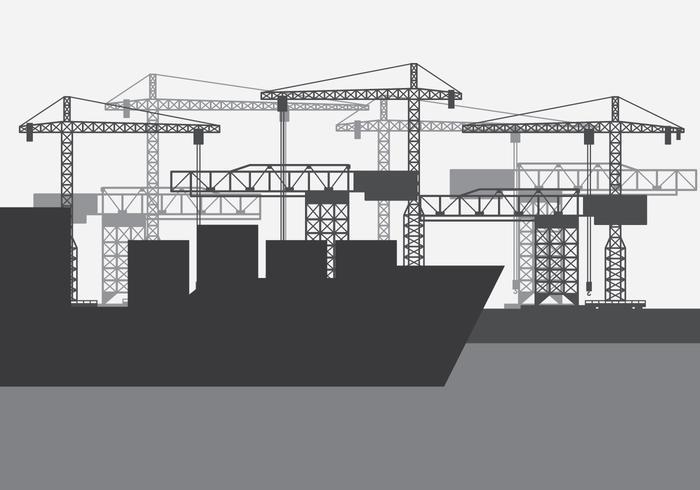 Shipyard Harbour Skyline vecteur