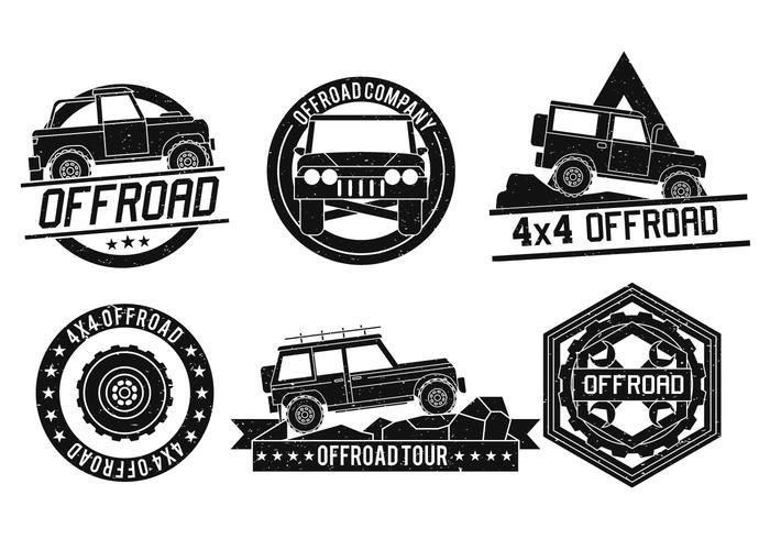 Ensemble de logo vectoriel hors route