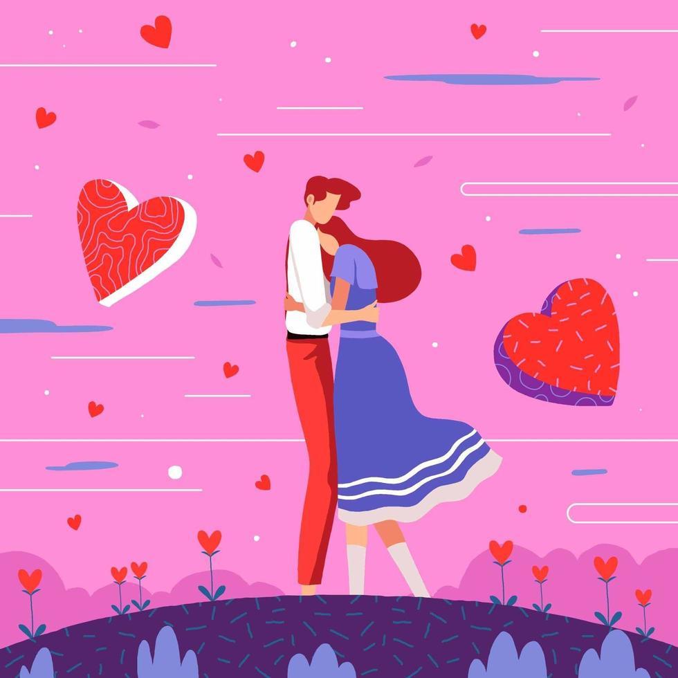 couple amoureux vecteur