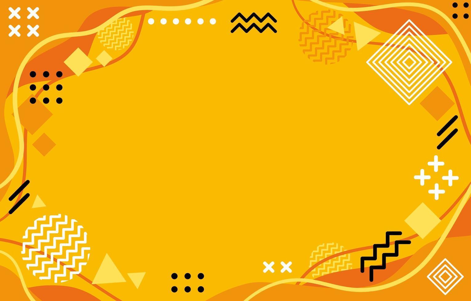 fond géométrique orange vecteur