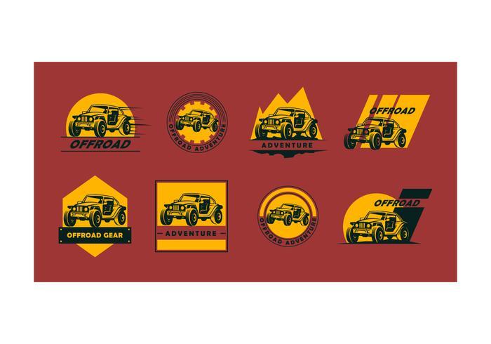 Collection gratuite de vecteur de logo hors route
