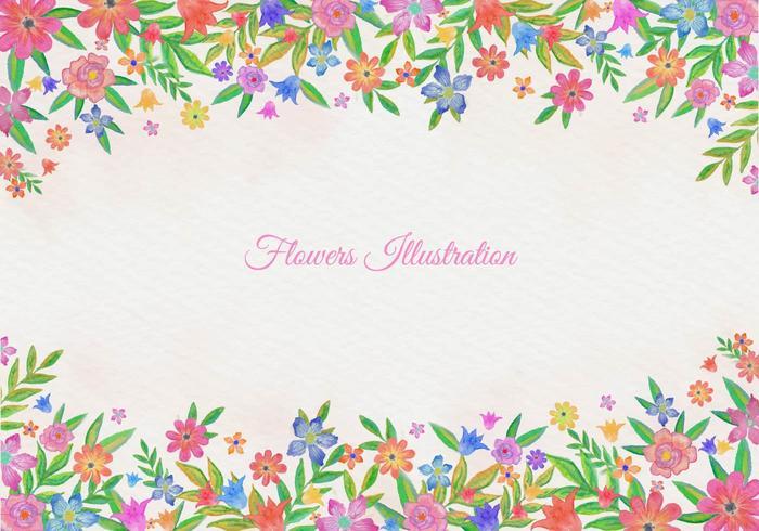 Fond floral d'aquarelle sans vecteur