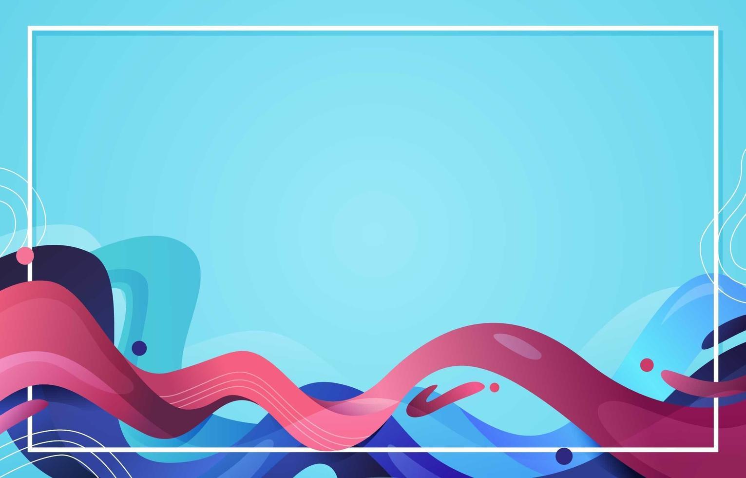 fond abstrait liquide avec une nuance rose et bleue vecteur