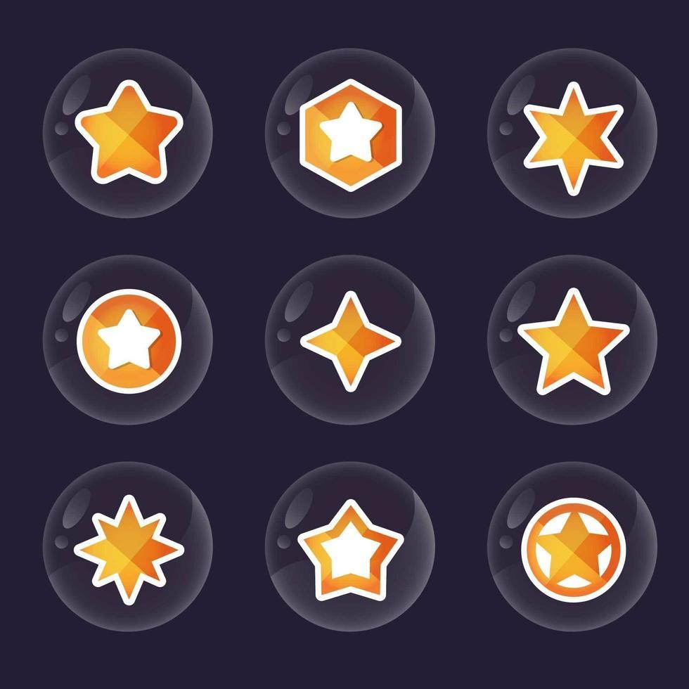 collections d'icônes bulle star vecteur