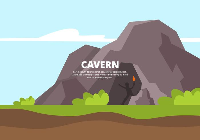 Illustration de la caverne vecteur