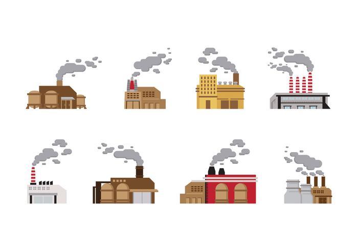 Vecteur de l'industrie de la pile de fumée