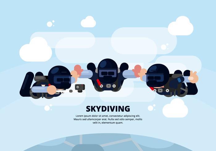 Illustration de parachutisme vecteur