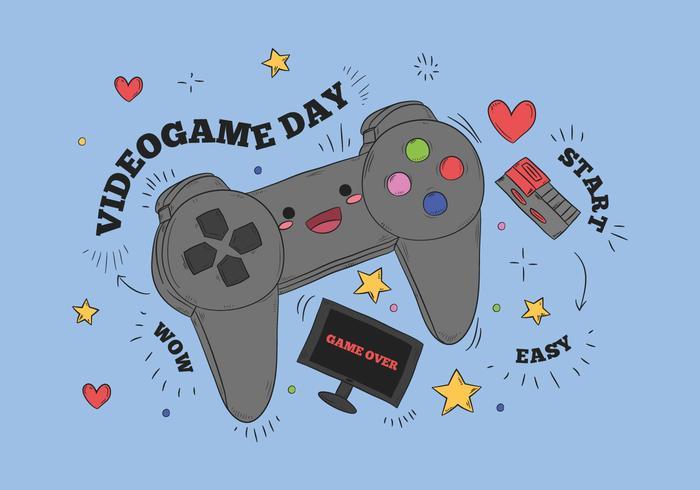 Cute Video Game Control Vector
