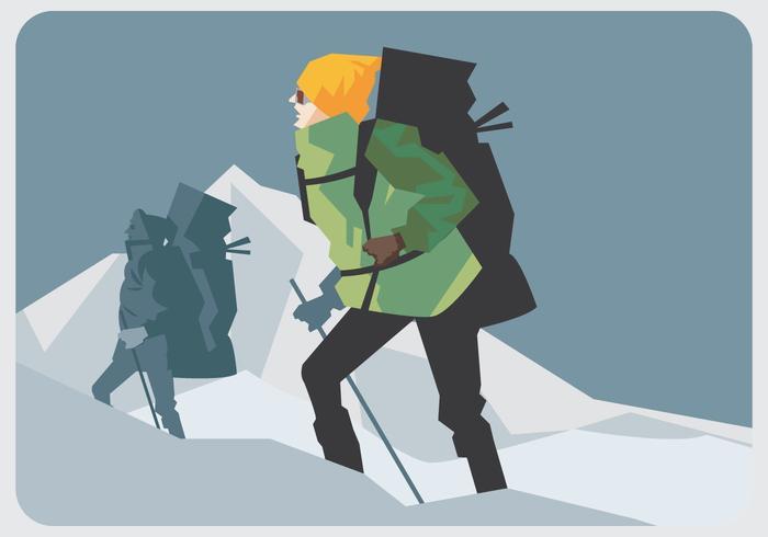 Vecteur ambulant alpiniste