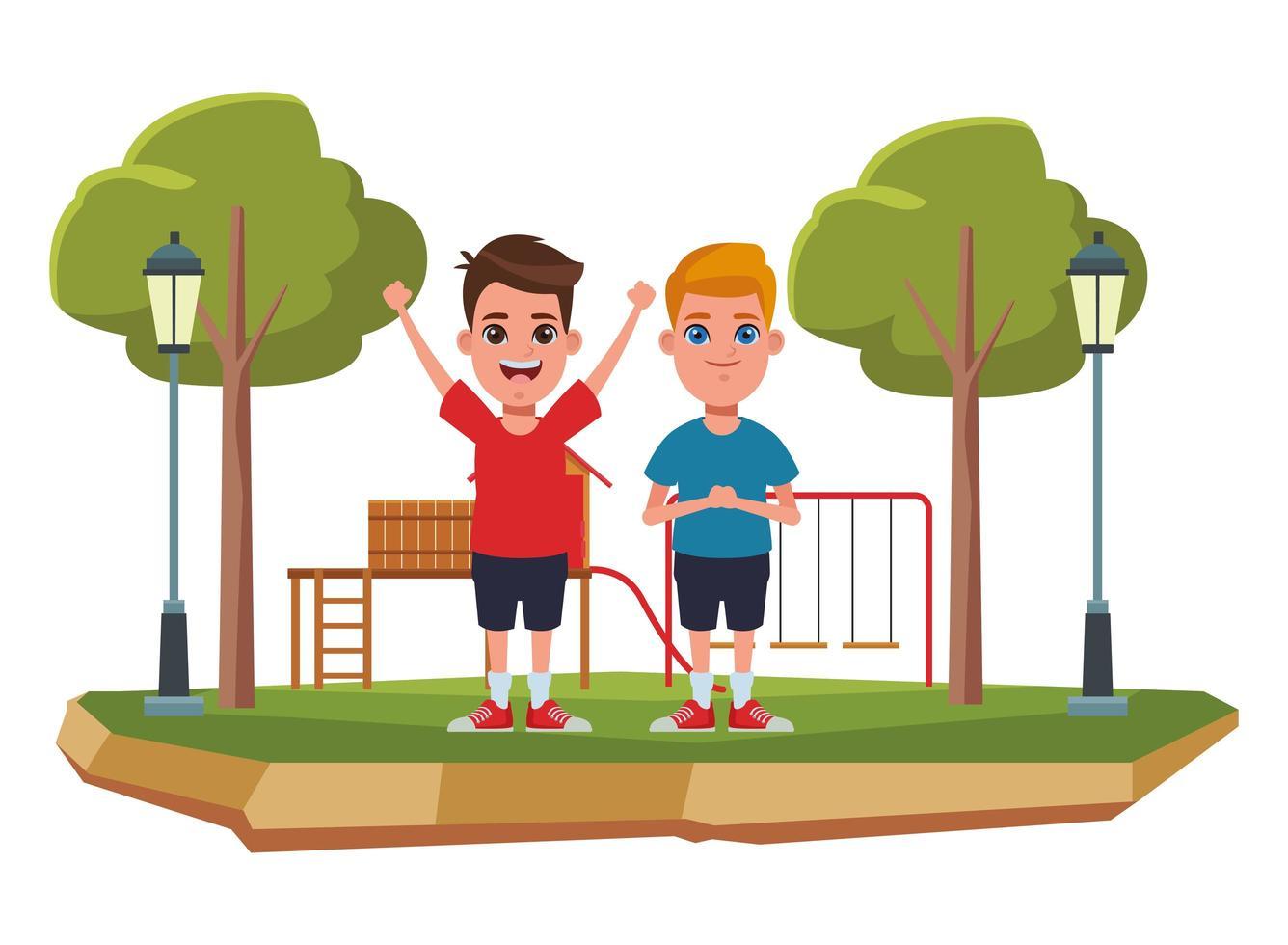 personnages de dessins animés enfants vecteur