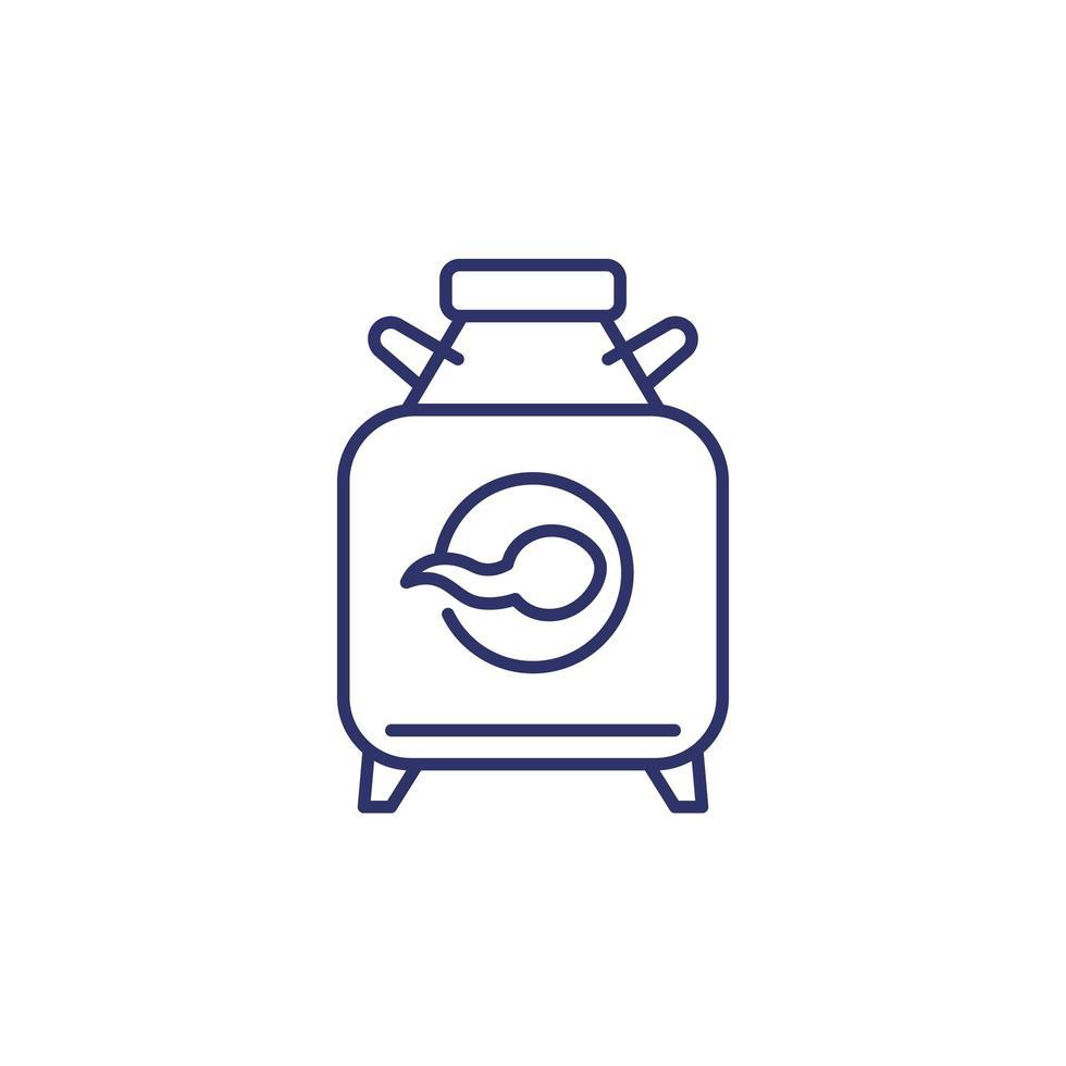 banque de sperme, icône de ligne cryobank vecteur