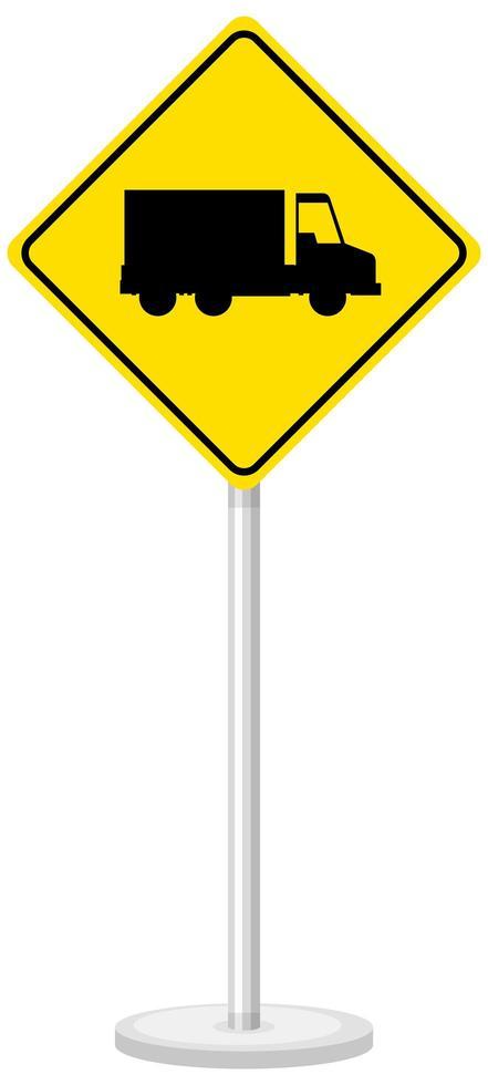 signe de camion jaune isolé sur fond blanc vecteur